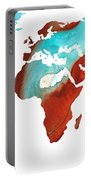 Map Of The World 4 -colorful Abstract Art Portable Battery Charger