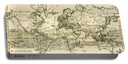 Map Of The World Using The Mercator Projection Portable Battery Charger