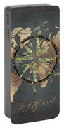 Map Of The World Wind Rose 5 Portable Battery Charger