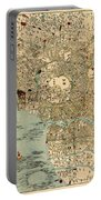 Map Of Tokyo 1854 Portable Battery Charger