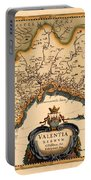Map Of Valencia 1634 Portable Battery Charger