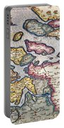 Map Of Zeeland Portable Battery Charger by Abraham Ortelius