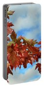 Maple Leaves Against The Sky  Portable Battery Charger