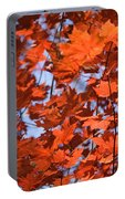 Maple Leaves Aglow Portable Battery Charger