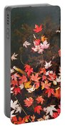 Maple Leaves On The Water  Portable Battery Charger
