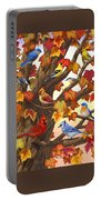 Maple Tree Marvel - Bird Painting Portable Battery Charger