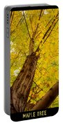 Maple Tree Poster Portable Battery Charger