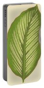 Maranta Alba Lineata Portable Battery Charger