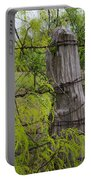 Marble Falls Texas Old Fence Post In Spring Portable Battery Charger