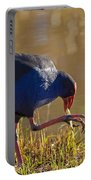 March Of The Swamphen Portable Battery Charger by Mike  Dawson
