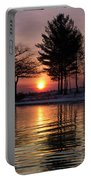March Sunrise At Detroit Point Portable Battery Charger