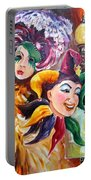 Mardi Gras Images Portable Battery Charger by Diane Millsap