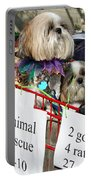 Mardi Gras Pekingese Pups Portable Battery Charger by Kathleen K Parker