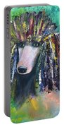 Mardi Gras Poodle Portable Battery Charger