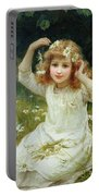 Marguerites Portable Battery Charger by Frederick Morgan