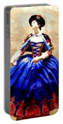 Marie Antoinette Figurine In New Orleans Portable Battery Charger