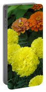 Marigold And Zinnias Portable Battery Charger