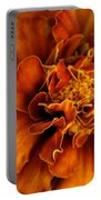 Marigold On Blue Portable Battery Charger