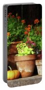 Marigolds And Pumpkins Portable Battery Charger