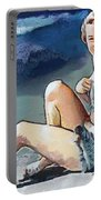 Marilyn Mermaid Fragmented Portable Battery Charger