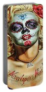 Marilyn Monroe Jfk Day Of The Dead  Portable Battery Charger