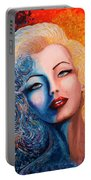 Marilyn Monroe Original Acrylic Palette Knife Painting Portable Battery Charger