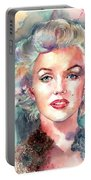 Marilyn Monroe Portrait Portable Battery Charger