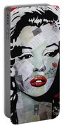 Marilyn Monroe Red Flower Portable Battery Charger