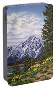Marina's Edge, Jenny Lake, Grand Tetons Portable Battery Charger by Erin Fickert-Rowland