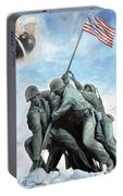 Marine Corps Art Academy Commemoration Oil Painting By Todd Krasovetz Portable Battery Charger