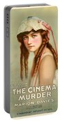 Marion Davies In The Cinema Murder 1919 Portable Battery Charger