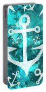 Maritime Anchor Art Portable Battery Charger