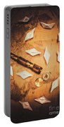 Maritime Origami Ships On Antique Map Portable Battery Charger