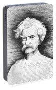 Mark Twain In His Own Words Portable Battery Charger