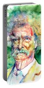 Mark Twain Watercolor Portable Battery Charger