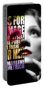 Marlene Dietrich Quote Portable Battery Charger