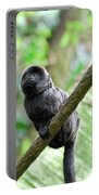 Marmoset Sitting On A Vine Portable Battery Charger