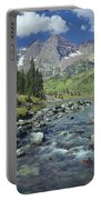 210404-maroon Bells And Creek  Portable Battery Charger