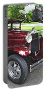 Maroon Vintage Car Portable Battery Charger