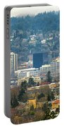 Marquam Bridge By Portland City Skyline Panorama Portable Battery Charger