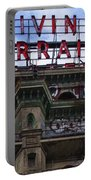 Marquee - Divine Lorraine Hotel - Philadelphia Portable Battery Charger