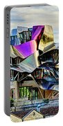 marques de riscal Hotel at sunset - frank gehry Portable Battery Charger