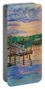 Marsh View At Pawleys Island Portable Battery Charger by Kendall Kessler