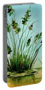Marsh Weeds Portable Battery Charger