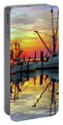 Marshallberg Harbor Sunset Portable Battery Charger