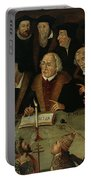 Martin Luther In The Circle Of Reformers Portable Battery Charger