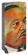 Martin Luther King Portrait 1 Portable Battery Charger