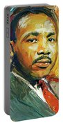Martin Luther King Portrait 2 Portable Battery Charger