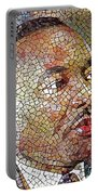 Martin Luther King Portrait Mosaic 1 Portable Battery Charger