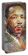 Martin Luther King Portrait Mosaic 2 Portable Battery Charger